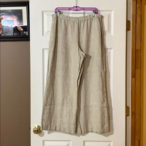 Chico's linen palazzo pants size 3 GUC